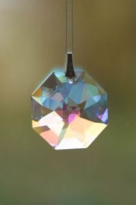 Crystal~Bagua 28 BLAB Swarovski  Rainbow Hanging Crystal. Rainbow -A stunning array of dancing light